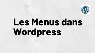 Faire un Menu Wordpress