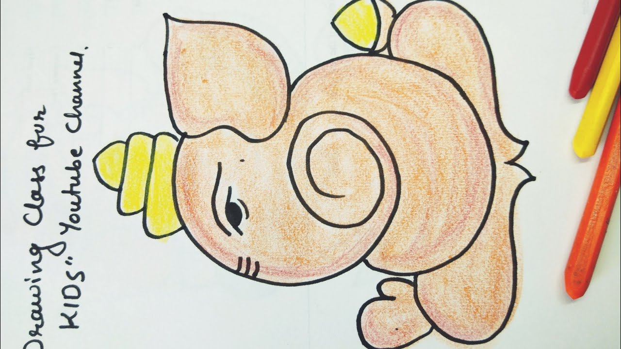 Easy Ganpati Drawings And Color For Kids And Beginners Youtube