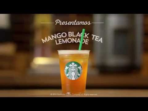 Starbucks México  Presentamos Mango Black Tea Lemonade
