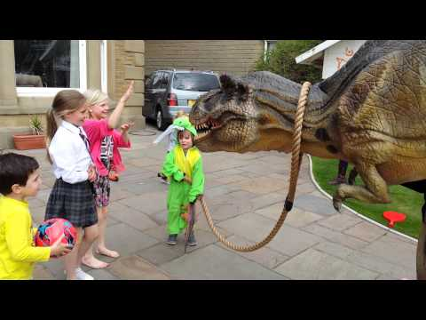 T Rex Dinosaur Hire Walkabout at Children's Birthday Party | Big Foot Events