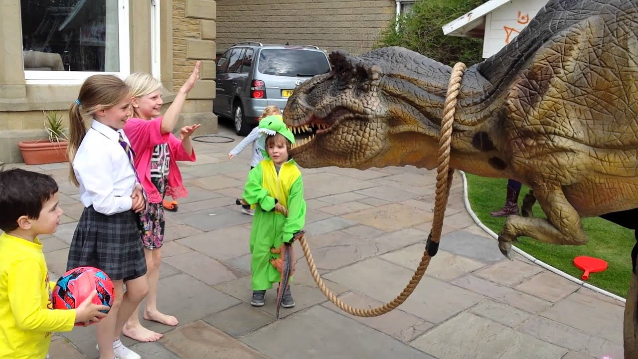 T Rex Dinosaur Hire Walkabout at Childrens Birthday Party Big
