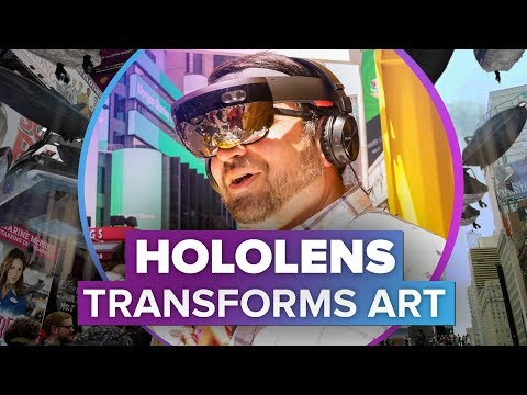 HoloLens art installation in Times Square