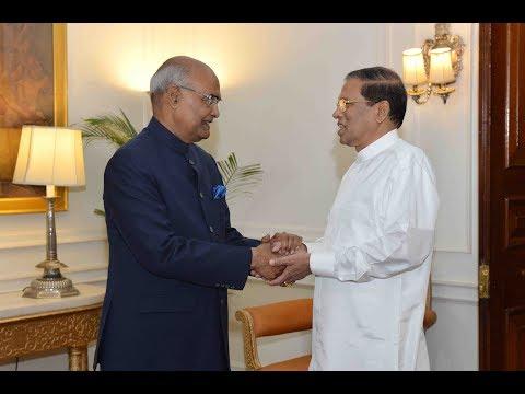 President Maithripala Sirisena of Sri Lanka calls on President Kovind