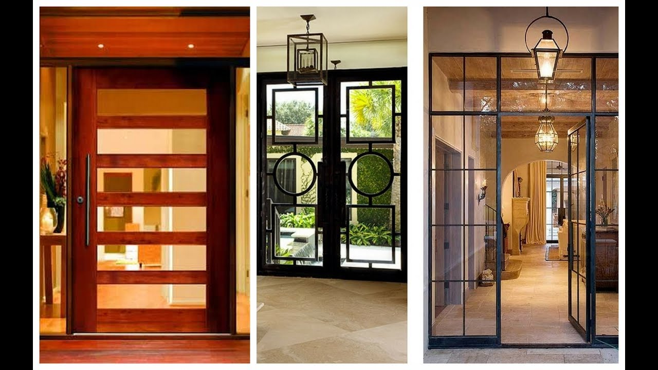 Beautiful Modern Wooden And Glass Door Designs  Plan N Design