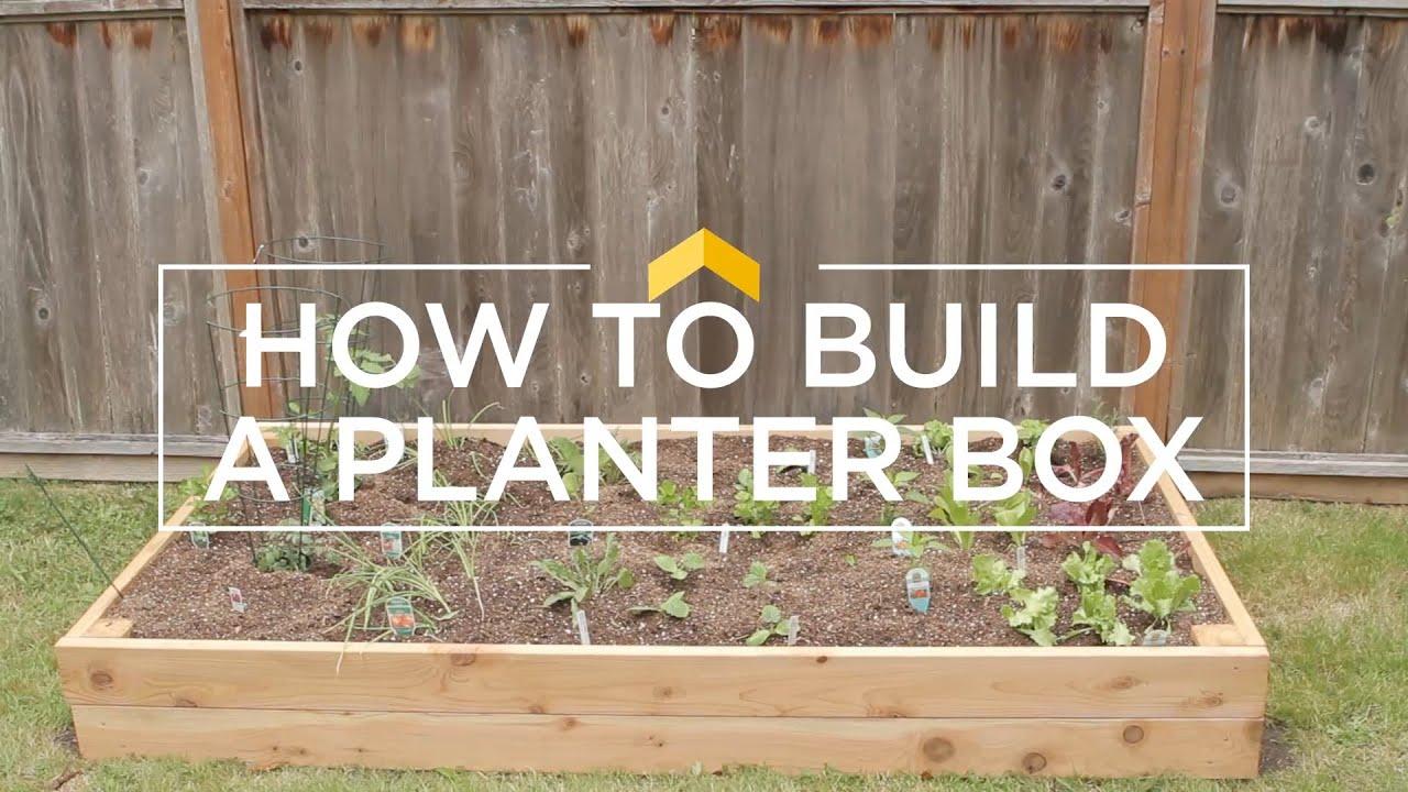 how to build a planter box - How To Build A Planter Box