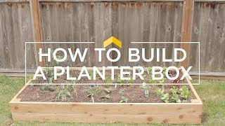 How to Build a Planter Box