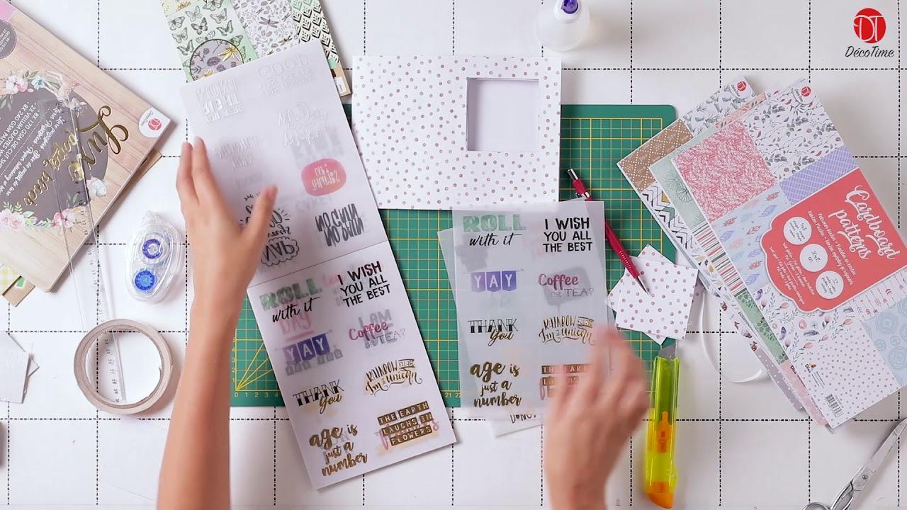 Bekend Zelf kaarten maken met diverse papierblokken van Décotime - YouTube @OM58