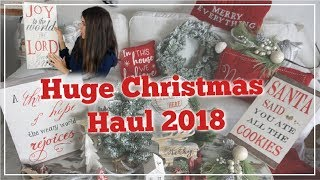 HUGE CHRISTMAS HAUL 2018 | UNBOXING Walmart, Hobby Lobby, Target & Dollar Tree | Momma From Scratch