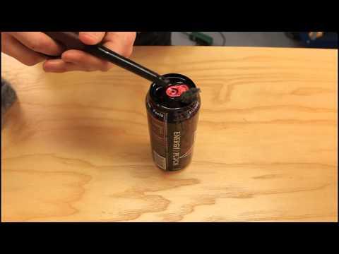 Coke Can Motor Oil Lantern
