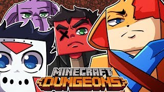 FIGHTING THROUGH THE FIRST DUNGEON ON MAX DIFFICULTY! [Minecraft Dungeons] (Coop Part 1)