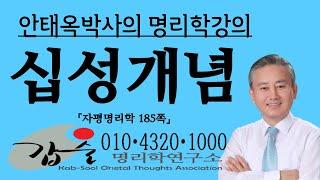 명리공부합시다-십성개념-(자평명리학180쪽)-갑술명리학-안태옥박사의 사주명강의