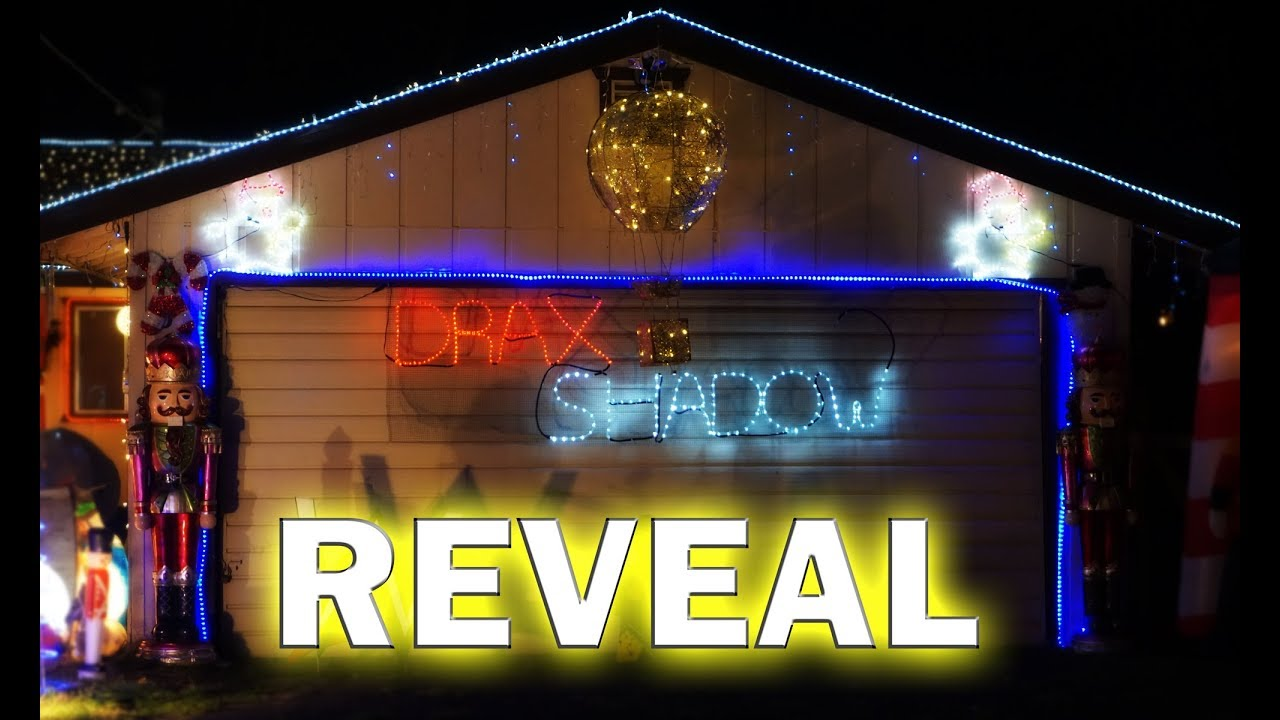 outdoor christmas lights reveal - Neon Outdoor Christmas Decorations