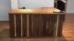 Pallet wood Reception Desk with Brass & IKEA ??
