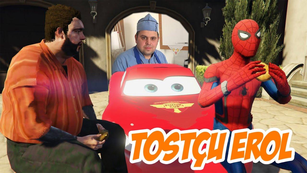 Tostçu Erol Atom Tostu ile Recep İvedik ve Örümceği Hastanelik Etti (GTA 5 Gerçek Hayat)