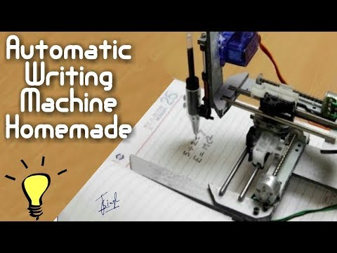 HOW TO MAKE HOMEMADE WRITING MACHINE AT HOME   FOR STUDENTS   DIY CRAFTS  