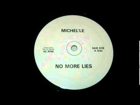 "Michel'le - No more Lies (White Label) 12"" single"