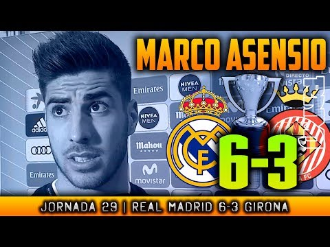 MARCO ASENSIO post Real Madrid 6-3 Girona (18/03/2018) | POST LIGA JORNADA 29