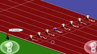 2nd place in 100m sprint Computer Game Olympic Flyer Schoolyard Race
