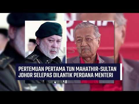 PM MENGHADAP SULTAN JOHOR