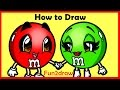 How to Draw Cartoons - M + M's Candy - Fun2draw