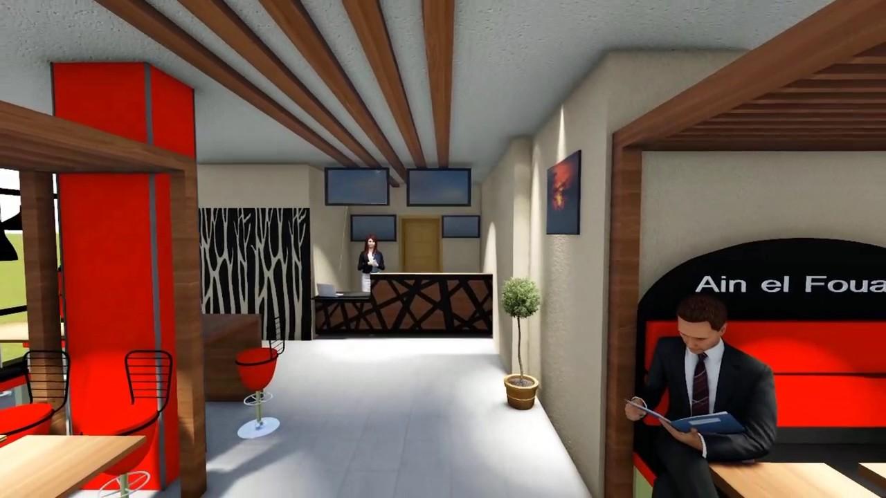 Projet d\'aménagement d\'un restaurant - conception 3D - YouTube