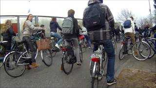 Meanwhile in The Netherlands... Cycling traffic jam! | Cyclecam