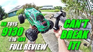 XH TOYS 9130 1:16 4x4 RC Truck Review - (Unboxing, Inspection, Bash Test!, Pros & Cons)