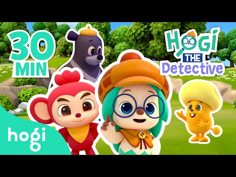 Hogi THE Detective | Binge Watch Ep. 1~4 | Pinkfong & Hogi | Kids' Stories | Play with Hogi