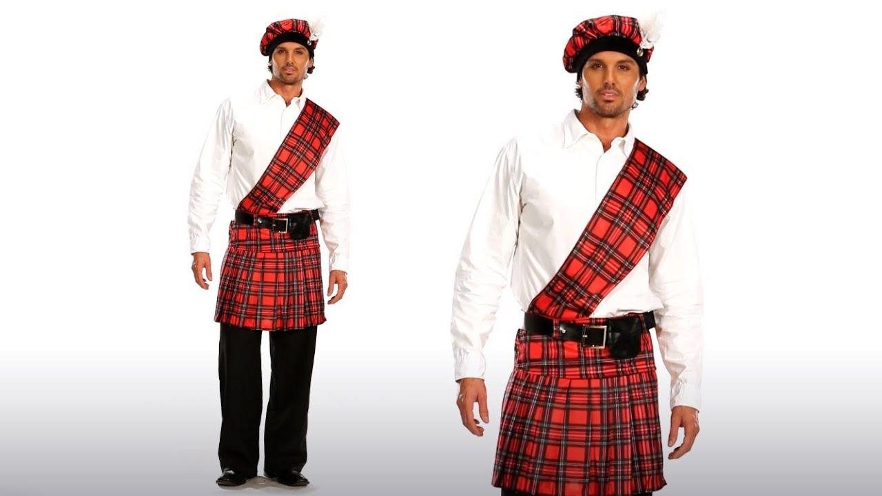 mens scottish kilt costume for halloween youtube