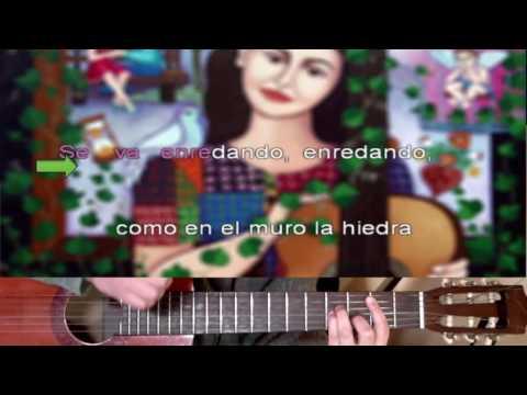 Volver a los 17 - Violeta Parra - Karaoke Guitar