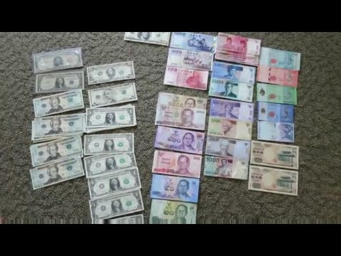MY BANK NOTE COLLECTION   FOREIGN & US