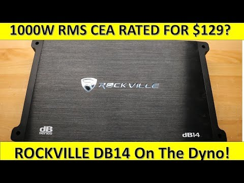 $129 For 1000W RMS CEA Rated!? Rockville DB14 on the Dyno!
