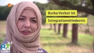 ZDF Deutsch: German Ahmadi Muslim Journalist, Khola Maryam Hubsch talks about the Burqa Ban