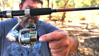 My new $20 fishing rod and how to set up a fishing rod and reel