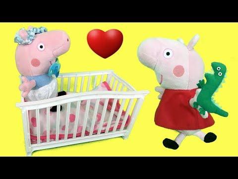 Peppa pig en español:Pepa y regalo del dinosaurio de bebe George pig.Nuevo video de juguetes 2018