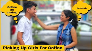 Picking Up Girls For Coffee Date Prank On Cute Girls | Prank Star