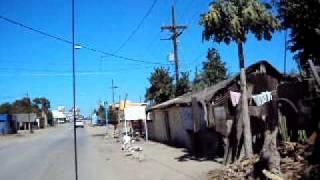 Entrada principal de Est. Naranjo, Sinaloa, México.