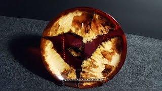 Wood Turning - Red Burl Dish/Bowl