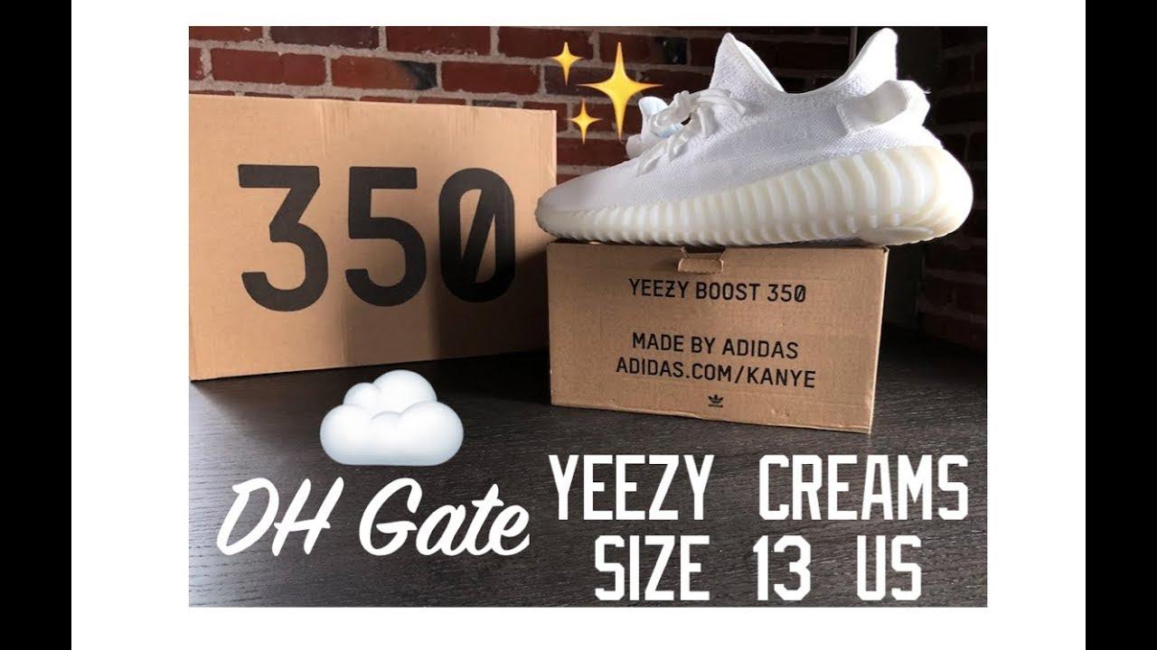 4a08328e6 Adidas YEEZY Boost DHGate white CREAMS 2019   Fakes   Replicas - YouTube