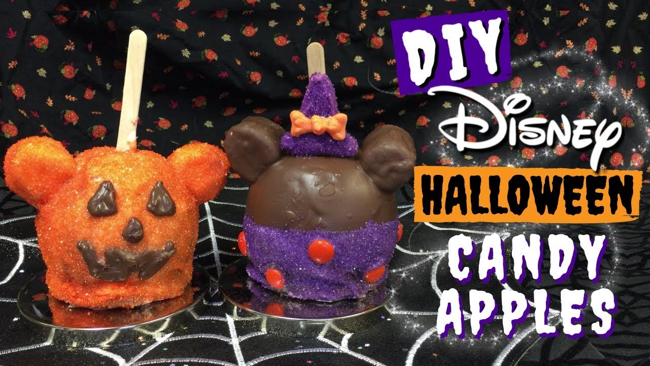 Diy Disney Halloween Candy Apples Mickey Pumpkin Minnie Witch Youtube
