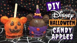 DIY Disney HALLOWEEN CANDY APPLES  Mickey Pumpkin &amp Minnie Witch