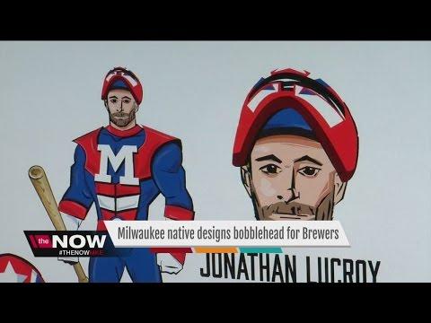 Milwaukee man designs custom Jonathan Lucroy bobblehead for Brewers