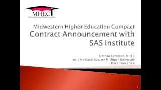 MHEC Contract Announcement: SAS Analytics Thumbnail