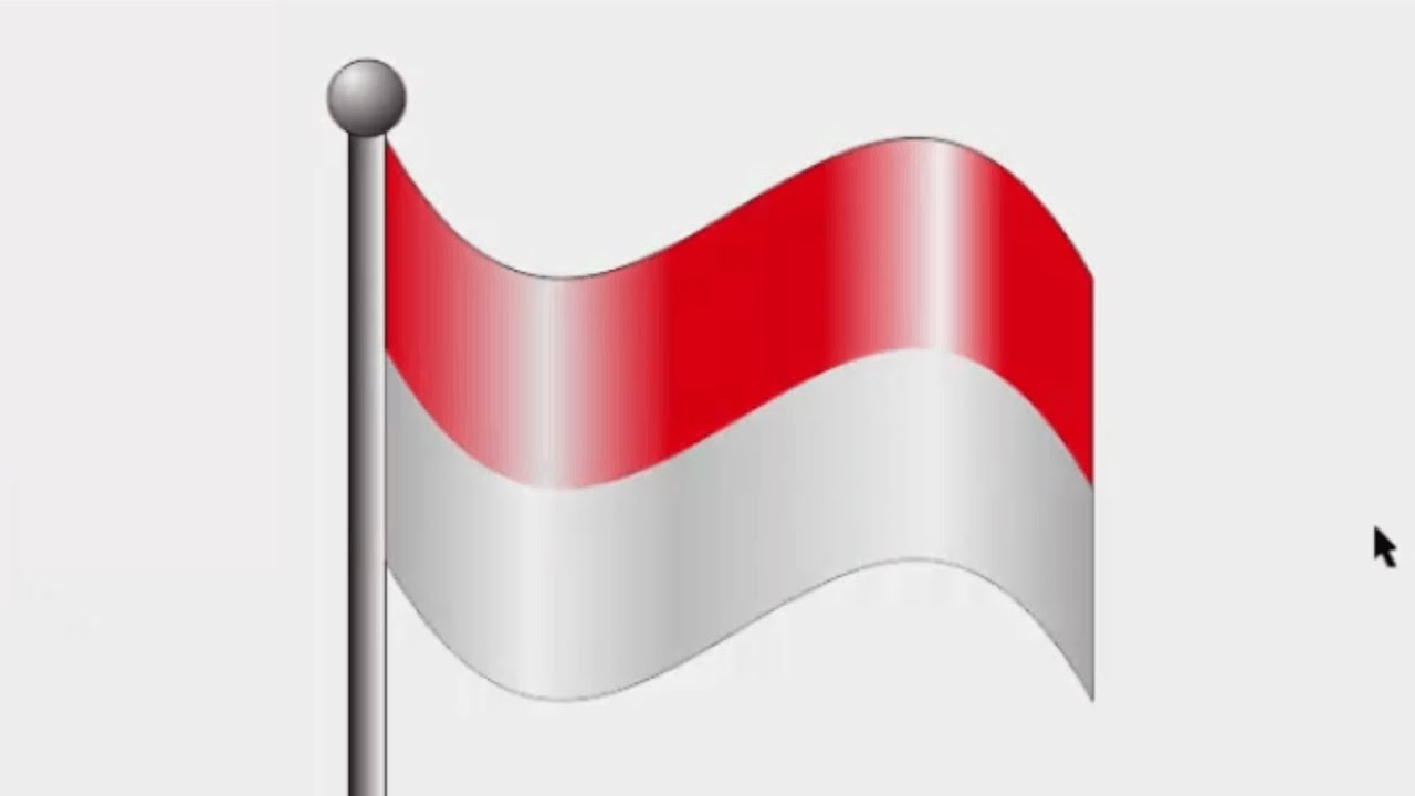 Corel Bendera Indonesia Merah Putih
