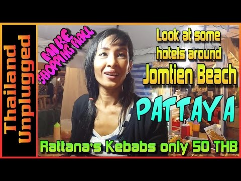Pattaya Jomtien Beach, look at hotels and eat at Mike Mall great food at a great price