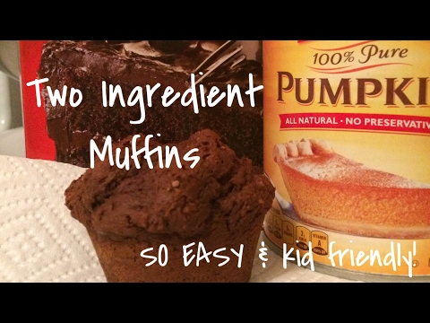 Super Easy Two Ingredient Muffin Recipe - Pumpkin And Cake Mix