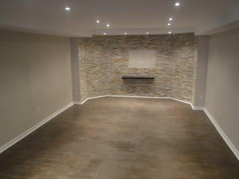 Finishing a basement from start to finish