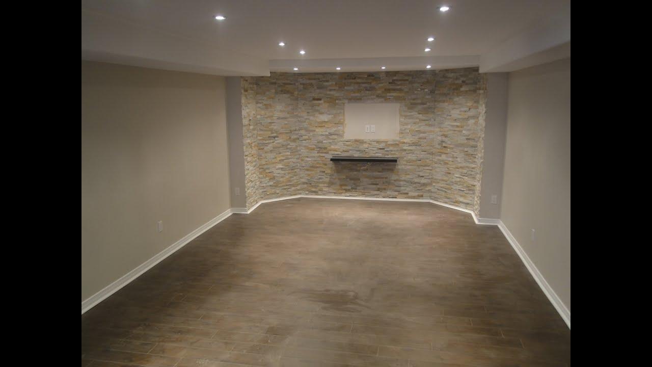 Finishing a basement from start to finish - YouTube