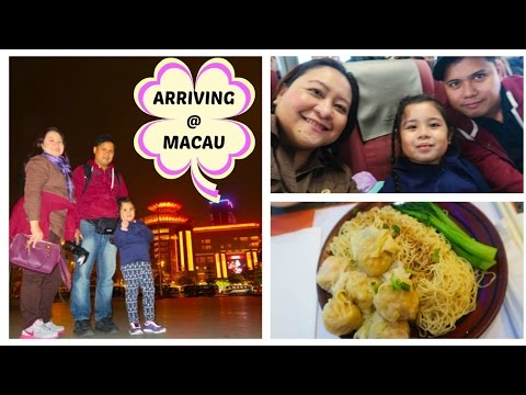 Arriving @ MACAU| Riding the Ferry from HK | Chubbyfam