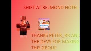 Shift at Belmond Hotels! | Roblox